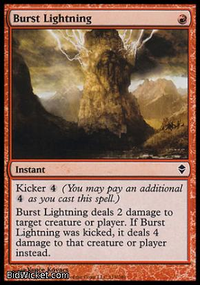 Burst Lightning, Zendikar, Magic the Gathering