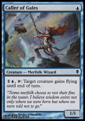 Caller of Gales, Zendikar, Magic the Gathering