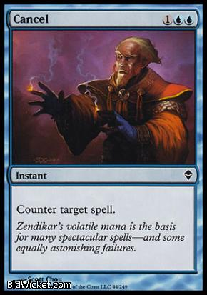 Cancel, Zendikar, Magic the Gathering