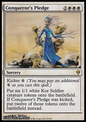 Conqueror's Pledge, Zendikar, Magic the Gathering