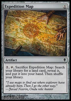 Expedition Map, Zendikar, Magic the Gathering
