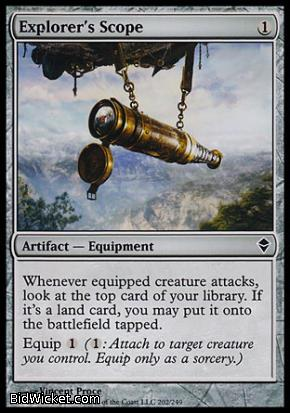 Explorer's Scope, Zendikar, Magic the Gathering