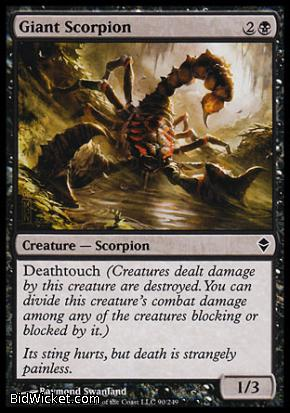 Giant Scorpion, Zendikar, Magic the Gathering