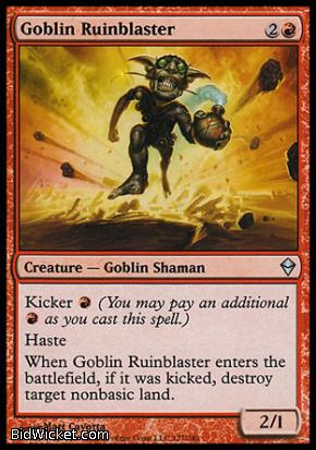 Goblin Ruinblaster, Zendikar, Magic the Gathering