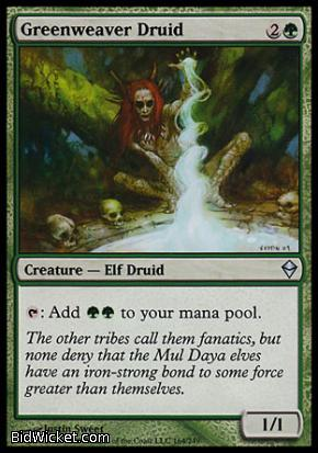 Greenweaver Druid, Zendikar, Magic the Gathering