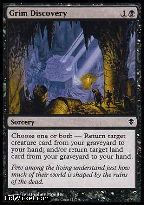Grim Discovery, Zendikar, Magic the Gathering