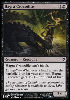 Hagra Crocodile, Zendikar, Magic the Gathering