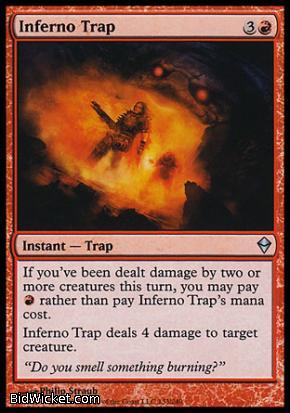 Inferno Trap, Zendikar, Magic the Gathering