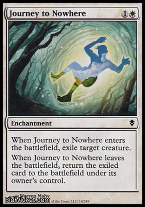 Journey to Nowhere, Zendikar, Magic the Gathering