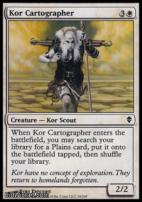 Kor Cartographer, Zendikar, Magic the Gathering
