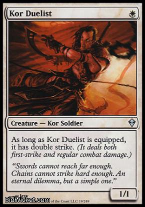 Kor Duelist, Zendikar, Magic the Gathering