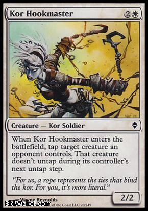 Kor Hookmaster, Zendikar, Magic the Gathering
