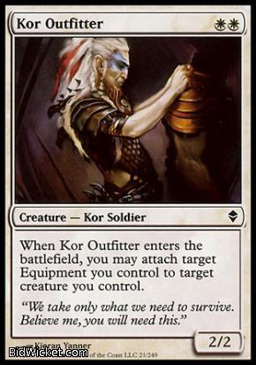 Kor Outfitter, Zendikar, Magic the Gathering