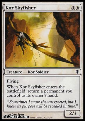 Kor Skyfisher, Zendikar, Magic the Gathering