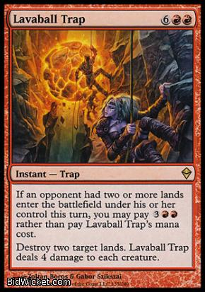 Lavaball Trap, Zendikar, Magic the Gathering
