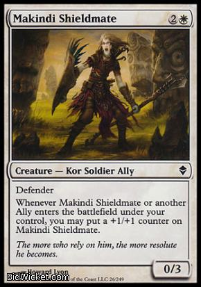 Makindi Shieldmate, Zendikar, Magic the Gathering