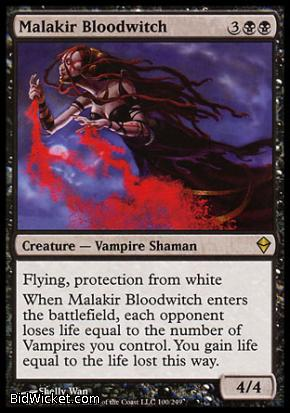 Malakir Bloodwitch, Zendikar, Magic the Gathering