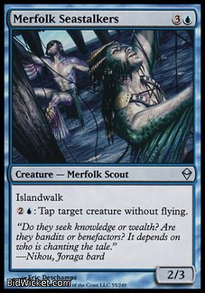 Merfolk Seastalkers, Zendikar, Magic the Gathering
