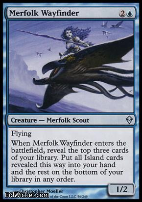 Merfolk Wayfinder, Zendikar, Magic the Gathering