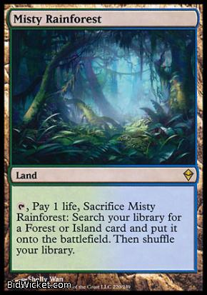 Misty Rainforest, Zendikar, Magic the Gathering