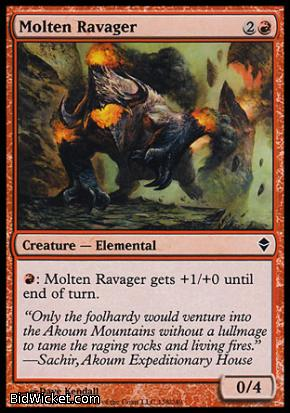Molten Ravager, Zendikar, Magic the Gathering