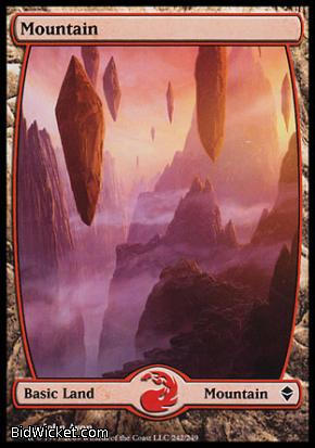 Mountain (242), Zendikar, Magic the Gathering