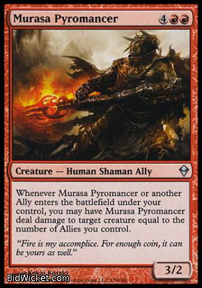 Murasa Pyromancer, Zendikar, Magic the Gathering