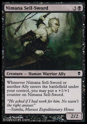 Nimana Sell-Sword, Zendikar, Magic the Gathering
