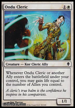 Ondu Cleric, Zendikar, Magic the Gathering