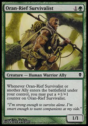 Oran-Rief Survivalist, Zendikar, Magic the Gathering