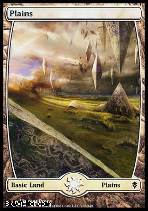 Plains (233), Zendikar, Magic the Gathering