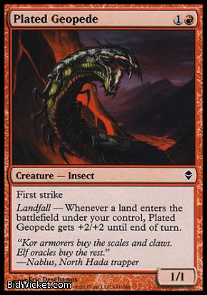 Plated Geopede, Zendikar, Magic the Gathering