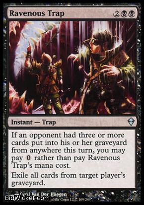 Ravenous Trap, Zendikar, Magic the Gathering