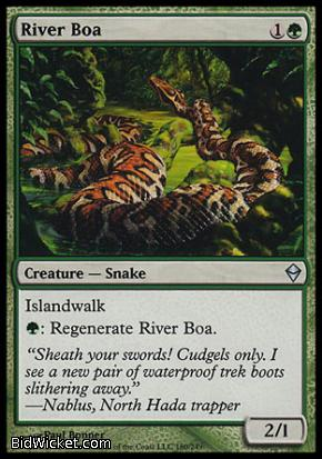 River Boa, Zendikar, Magic the Gathering