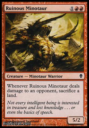 Ruinous Minotaur, Zendikar, Magic the Gathering