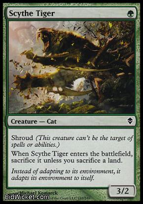 Scythe Tiger, Zendikar, Magic the Gathering