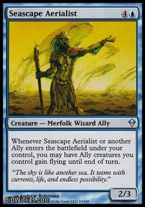 Seascape Aerialist, Zendikar, Magic the Gathering