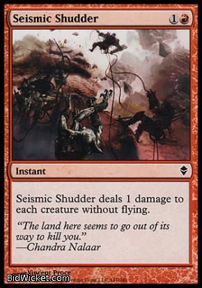 Seismic Shudder, Zendikar, Magic the Gathering