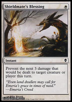 Shieldmate's Blessing, Zendikar, Magic the Gathering