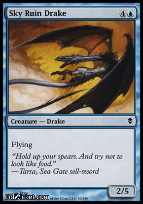 Sky Ruin Drake, Zendikar, Magic the Gathering