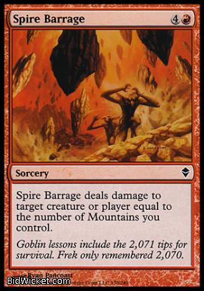 Spire Barrage, Zendikar, Magic the Gathering