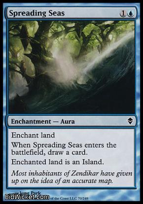 Spreading Seas, Zendikar, Magic the Gathering