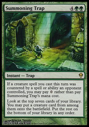 Summoning Trap, Zendikar, Magic the Gathering