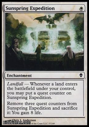 Sunspring Expedition, Zendikar, Magic the Gathering