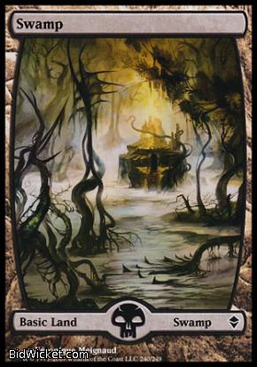 Swamp (240), Zendikar, Magic the Gathering