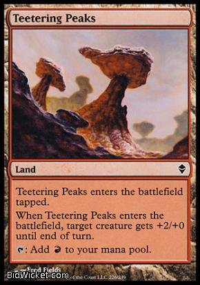 Teetering Peaks, Zendikar, Magic the Gathering