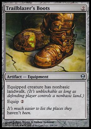 Trailblazer's Boots, Zendikar, Magic the Gathering