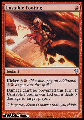 Unstable Footing, Zendikar, Magic the Gathering