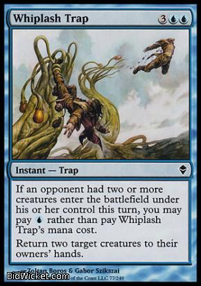 Whiplash Trap, Zendikar, Magic the Gathering