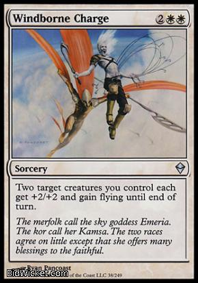 Windborne Charge, Zendikar, Magic the Gathering